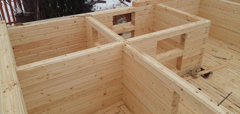 У кого построить дом из профилированного бруса своими руками