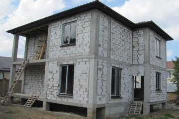 Строительство дома из газобетона с жб каркасом