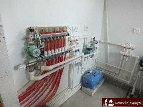 Схема разводки трубопровода системы отопления двухтрубная фото 56
